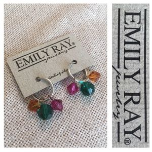 Emily Ray Hoops & Charms Hoopla Earrings NWT